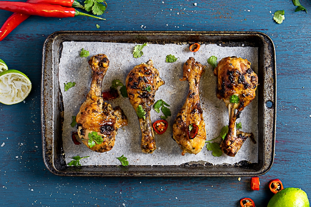 Easy Apricot Chicken Drumsticks With Apricot Nectar