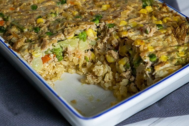Tuna and Vegetable Slice From Leftover Rice and Pantry Basics