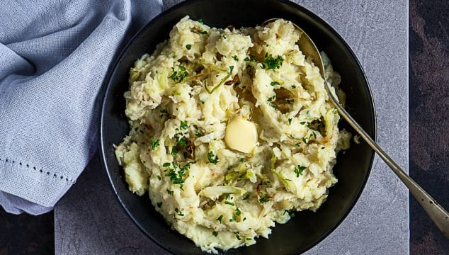 mashed potatoes and cabbage