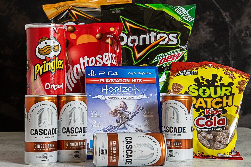 teenager gift basket idea - video game gift basket