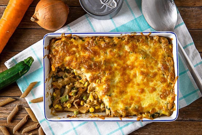 Old-Fashioned Tuna Casserole For a Frugal All-In-One Meal