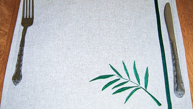hand embroidered placemat
