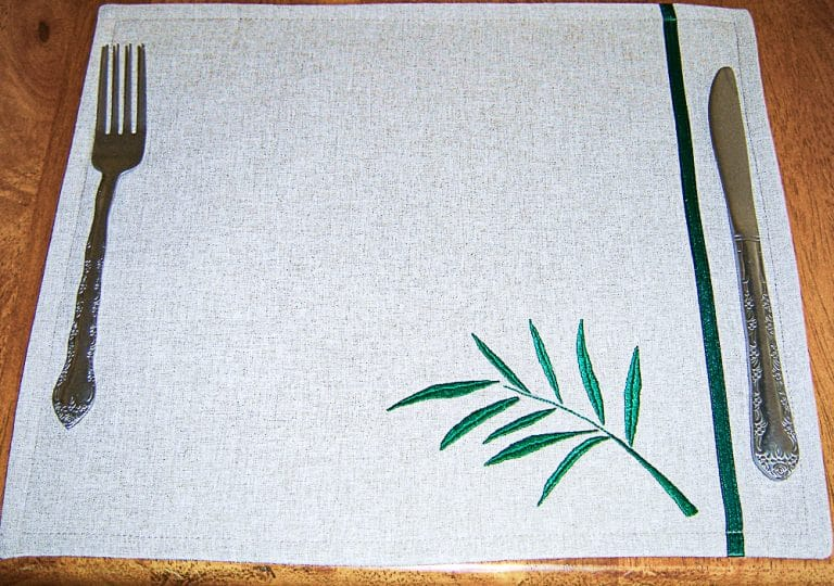 Tutorial: Making Hand Embroidered Placemats