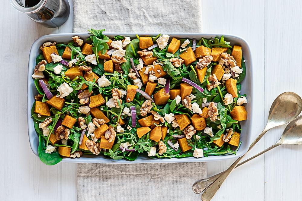Roast Pumpking and Feta Salad