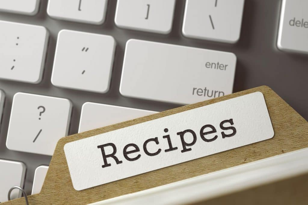 how to organise recipes on Evernote